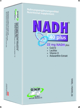 ​NADH40plus® 22mg NADH + Lecithine + Coenzym q10